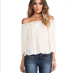 Jen's pirate booty off shoulder top natural